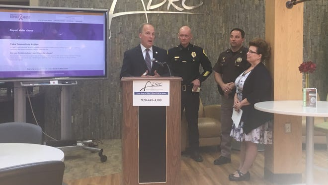 Wisconsin Attorney General Brad Schimel announces the next phase of the state's plan to stop elder abuse.