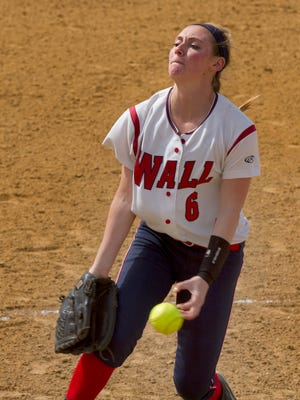 Wall pitcher Jackie Howarth pitches in Jackson Liberty Softball vs Wall in NJSIAA Cntral Group III game in Wall NJ  on May 20, 2015. Peter Ackerman/Staff Photographer