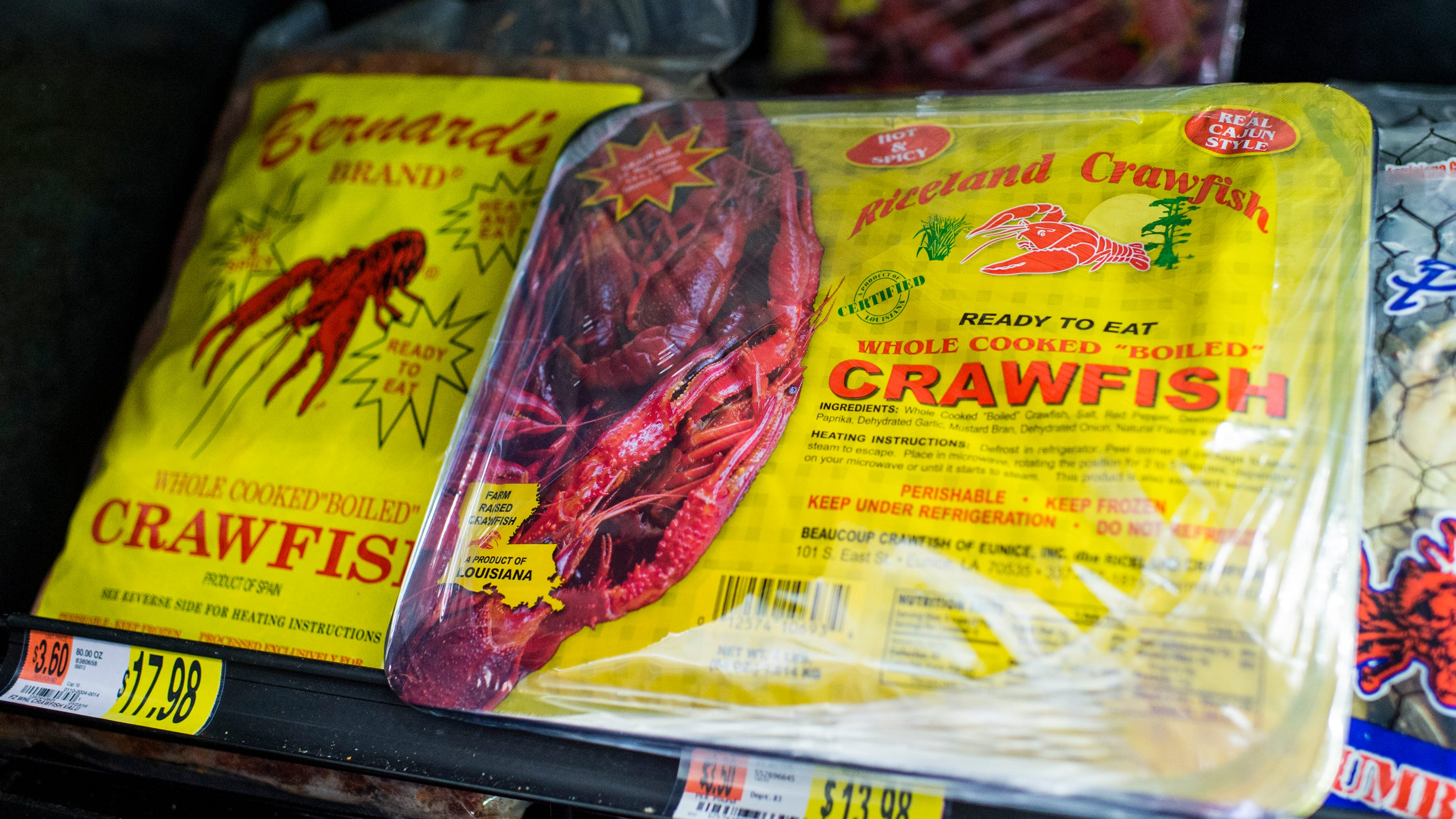 A crawfish boil in the wal mart freezer section ccuart Images