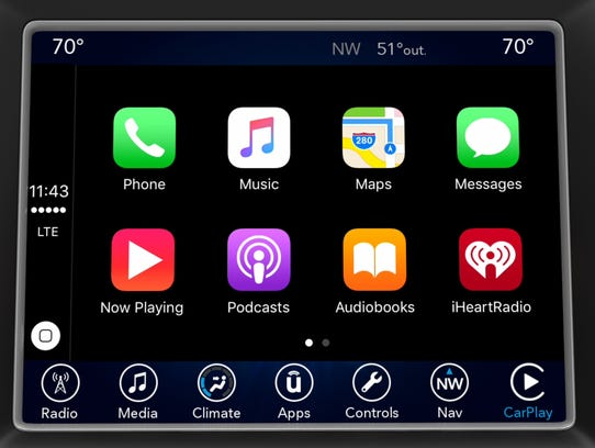 Chrysler's Uconnect with Apple CarPlay will be available