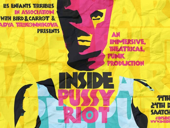 A poster ad for 'Inside Pussy Riot.'