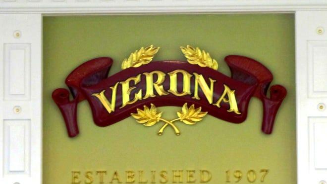 "The ""Verona"" sign at Town Hall."
