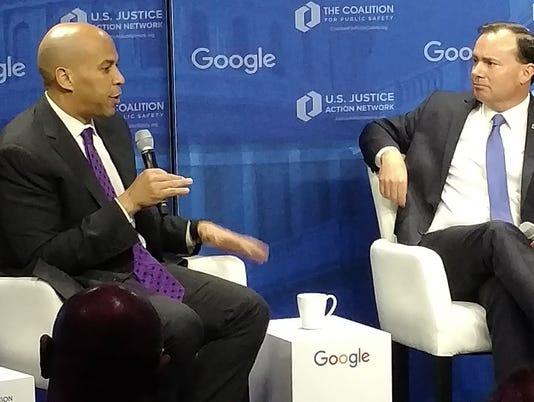 Booker discusses justice reform