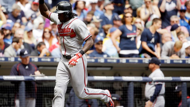 Roberson graduate Cameron Maybin hit his eighth home run of the season Wednesday in Milwaukee.