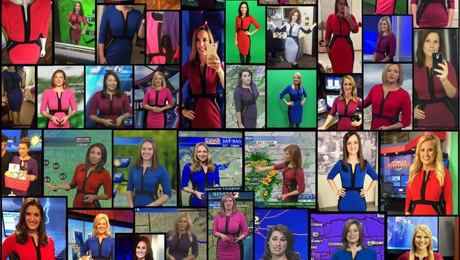This dress is popular among on-air female meteorologists.