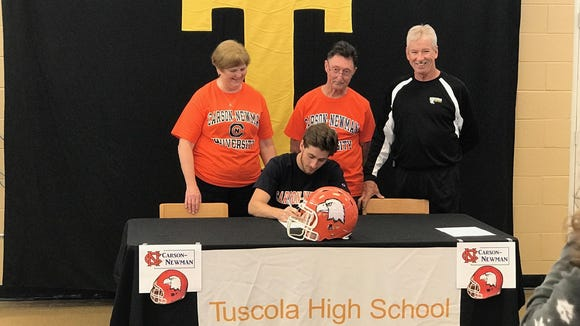 Tuscola senior Roman Jenkins has signed to play college football for Carson-Newman (Tenn.).