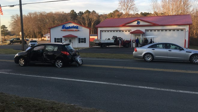 A motor vehicle collision on Lighthouse Road in Selbyville Feb. 6, 2018.