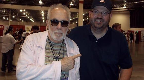 "Comic book author Chad Lambert (right) met ""WKRP in Cincinnati"" star Howard Hesseman in 2012."