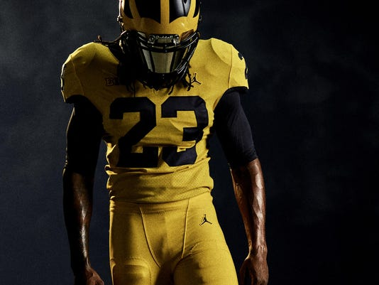 6ce4a144e  It s sweet   Michigan will wear all-maize uniforms vs. Florida