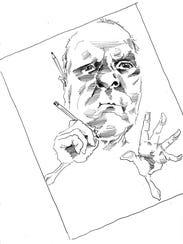 "A self-portrait of ""Chris Honeysuckle Ellis."""