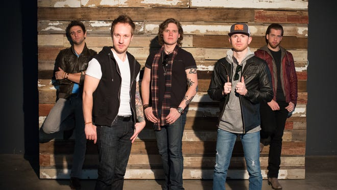 Members of Backroad Anthem are: (from left) Josh Bryant, Isaac Senty, Eric Dysart, Toby Freeman and Brandon Robald.