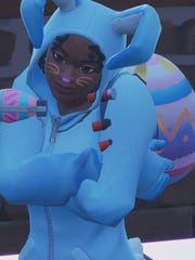 Shana Wilcox's avatar in the Bunny Brawler outfit on