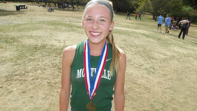 Freshman Anna George stole the show Saturday at the Passaic County Coaches Invitational at Garret Mountain, winning the Varsity Group 3 race by almost a minute over the rest of the field.