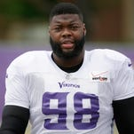 Minnesota Vikings defensive tackle Linval Joseph is recovering from being shot earlier this month at a Minneapolis nightclub. Joseph signed with the Vikings in the offseason after playing previously for the New York Giants.