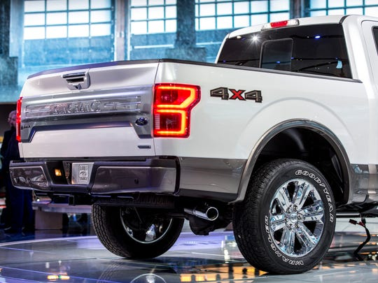 The Ford F-150 at the 2017 North American International Auto Show in Detroit.