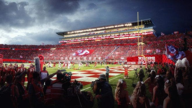 Fresno State athletic director Jim Bartko announced plans for a renovated Bulldog Stadium.