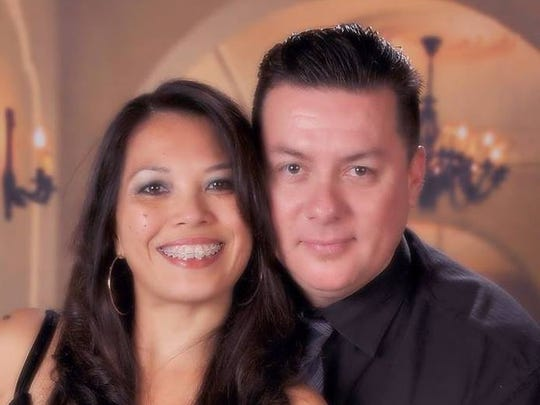Darlene Garcia and her husband, Frank, who has died.