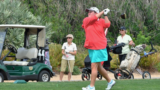 Maureen Arceneaux plays  Spessard Holland golf course, south of Melbourne Beach. Operation of the county course may be taken over later this year by the nonprofit organization Golf Brevard