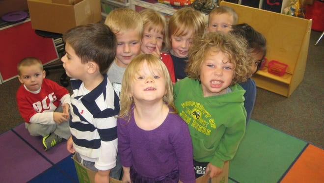 Students in Jenn Haack's 3- and 4-year-old preschool classes at North Ridge Elementary School in Grimes.