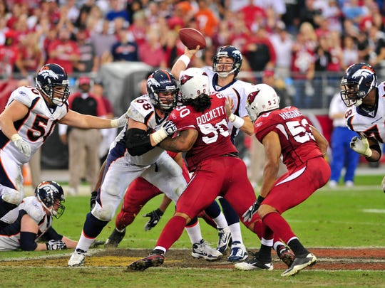 The Denver Broncos lost 43-13 to the Arizona Cardinals on Dec. 12, 2010, in Glendale. It's the only time the Cardinals have defeated the Broncos.