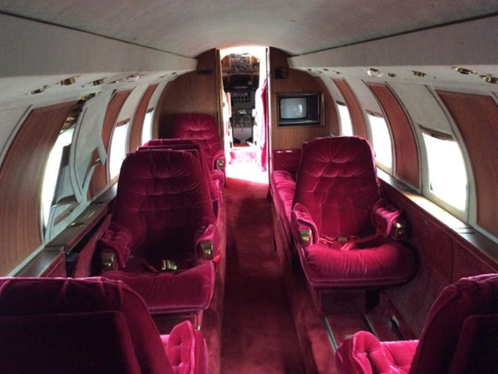 Built in, the Lockheed Jetstar L-1329 owned by Elvis