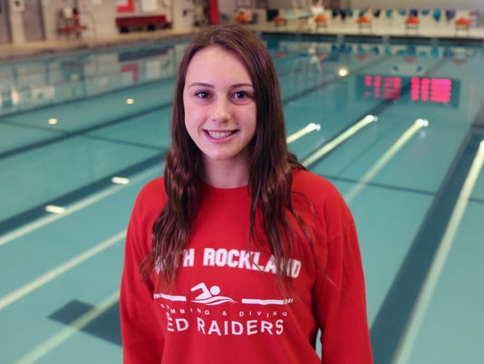 Lauren Aylmer, Rockland swimmer of the year