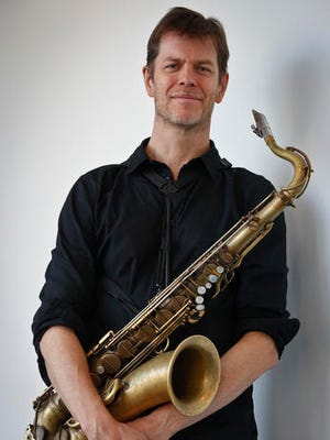 """This Oct. 11, 2016 photo shows saxophonist Donny McCaslin after an interview in New York. McCaslin worked with the late David Bowie on his last album, """"Blackstar,"""" which was nominated for several Grammy Awards including best alternative music album. The song """"Blackstar"""" is up for best rock performance and best rock song."""