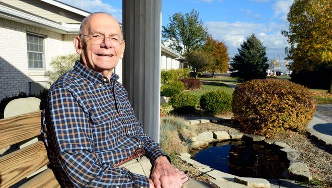 James Reardon, 90, served in World War II on a U.S. Navy troop transport ship in the Pacific Ocean.