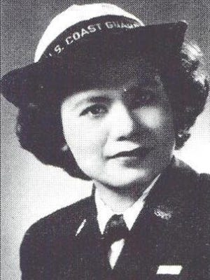 Florence Finch in her Coast Guard uniform during World War II.