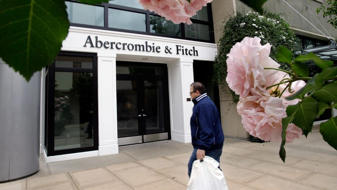 In this Tuesday, May 17, 2011 file photo, the exterior of an Abercrombie & Fitch store is shown in Palo Alto, Calif