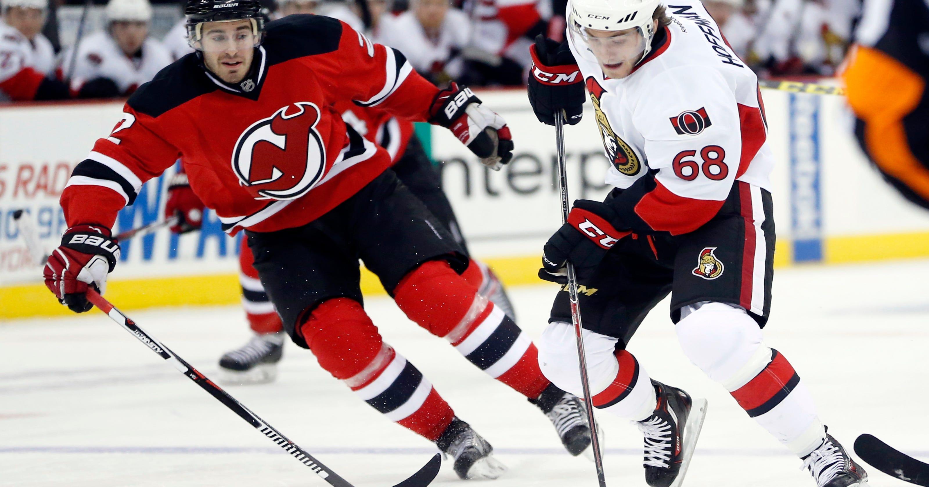 the latest c5dd0 c53b2 Zajac has goal, 3 assists as Devils beat Senators