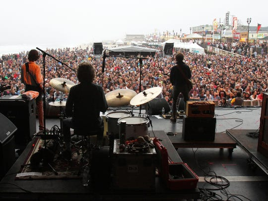 Dawes, pictured in Seaside Heights in 2015, has upcoming