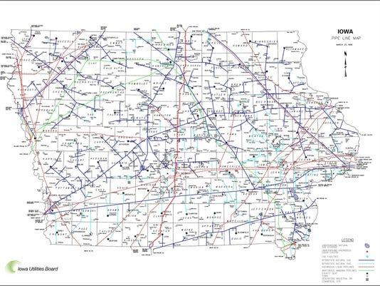 Dakota Access Pipeline Iowa Map.Dakota Access Pipeline Protesters Actions Crossed The Line