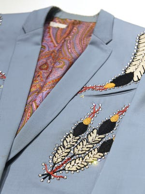 Ray Price's Nudie Suit is a cool example of Country and Western stage wear from the late 1950s, designed by Nudie Cohn. NudieÕs rhinestone suits are one of country musicÕs trademarks Tuesday March 14, 2017, in Nashville, TN