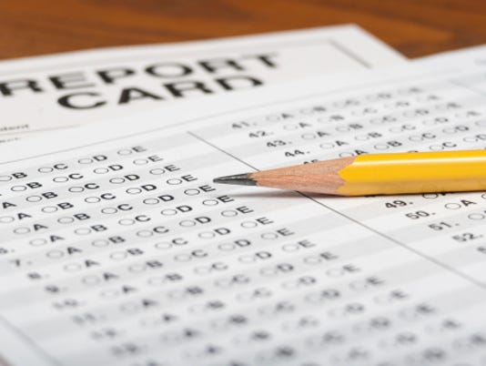 Report card stock image