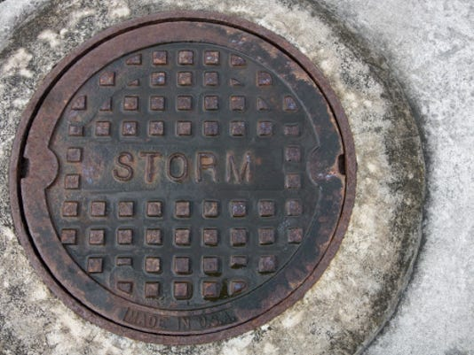 Storm sewer Stock Image