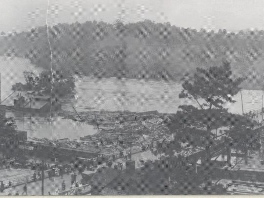 Several buildings and streets were heavily damaged in 1916 when the rain-swollen French Broad River exceeded its banks, especially in the Depot Street-Lyman Street area.
