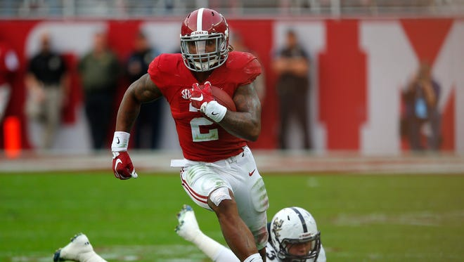 Heisman candidate Derrick Henry has rushed for 1,797 yards and 22 TD this season.
