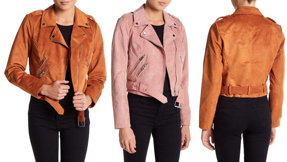 Sebby Faux Suede Moto Jacket