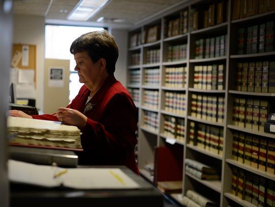 Mary Cowan, deputy clerk in the Brown County Register