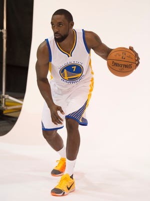 Golden State Warriors guard Ben Gordon poses for a photo during media day.