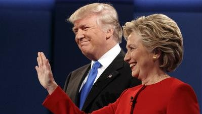 Republican Donald Trump and Democrat Hillary Clinton are among the presidential candidates on the ballot.