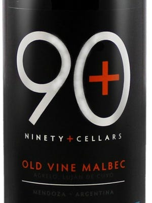 Ninety+Old Vine Malbec, 2013, $17.99. Dark berry and spice notes, touch of oak, mellow tannins.