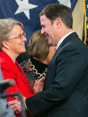 Gov. Doug Ducey and state schools chief Diane Douglas — who have feuded for months over who runs the State Board of Education — will set aside their differences Tuesday and appear together at the Arizona Department of Education's annual conference for educators.