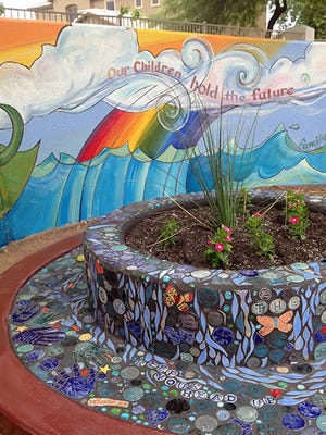 "The ""Fountain of Youth"" art project, by artist Kristine Kollasch and local teens, will be highlighted during the Elsie McCarthy Sensory Garden's Re-dedication at 9 a.m. on Saturday, Nov. 14."