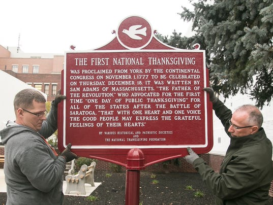 First National Thanksgiving Marker