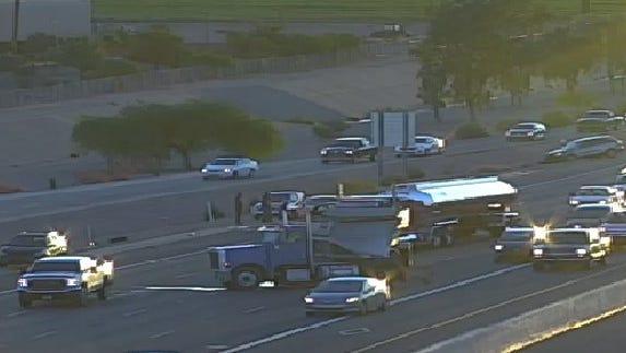 Crash on I-10 westbound, backups to 99th Ave.