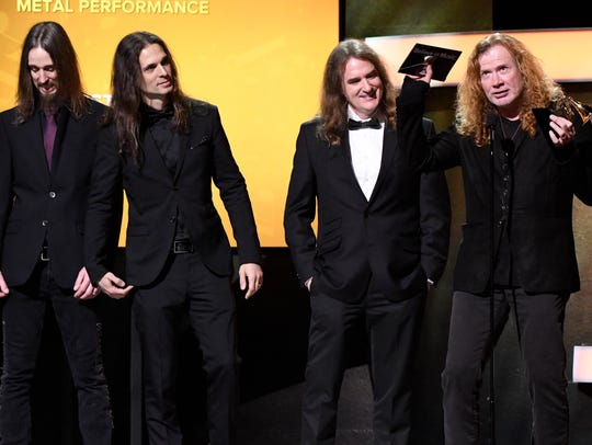 Megadeth accepts best metal performance during the
