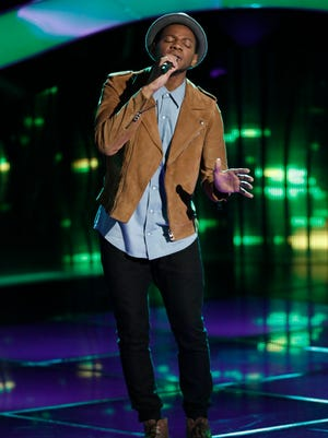 "Knoxville singer Chris Blue auditions on ""The Voice"" season 12."