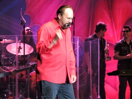 Harry Casey of KC and the Sunshine Band reacts to applause at the end of a song during a recent concert at Paragon Casino Resort in Marksville.
